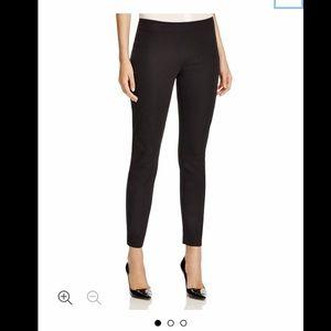 ELIE TAHARI Black Straight leg Side Zip Pant sz M